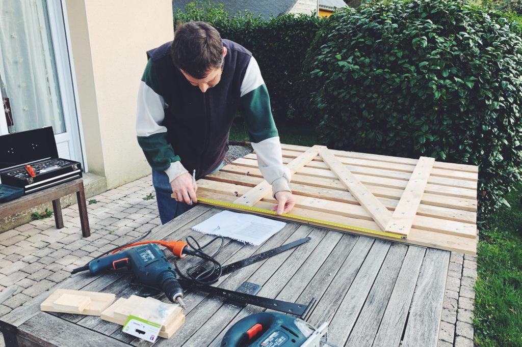 portillon jardin en bois de palettes