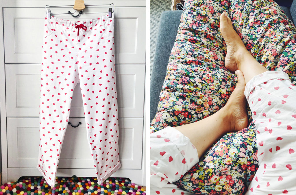 Couture 2020 - pyjama cœurs M comme Marie & Mondial Tissus