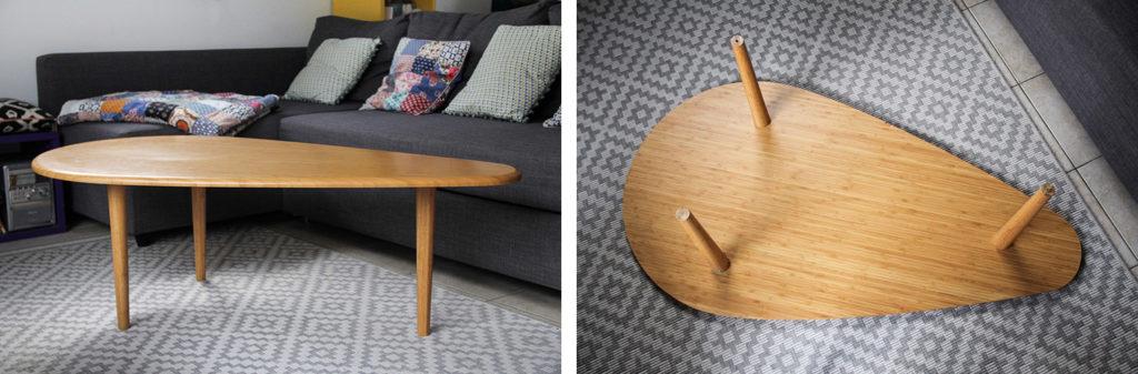 Réparer sa table basse avec de nouveaux pieds La Fabrique des Pieds - DIY facile