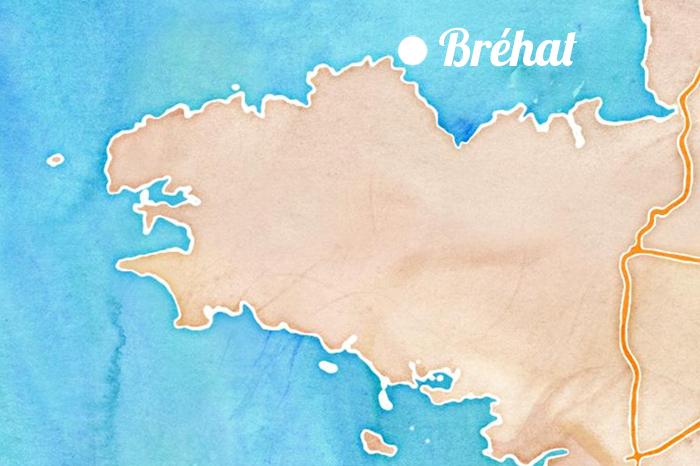 Carte de Bretagne - Bréhat