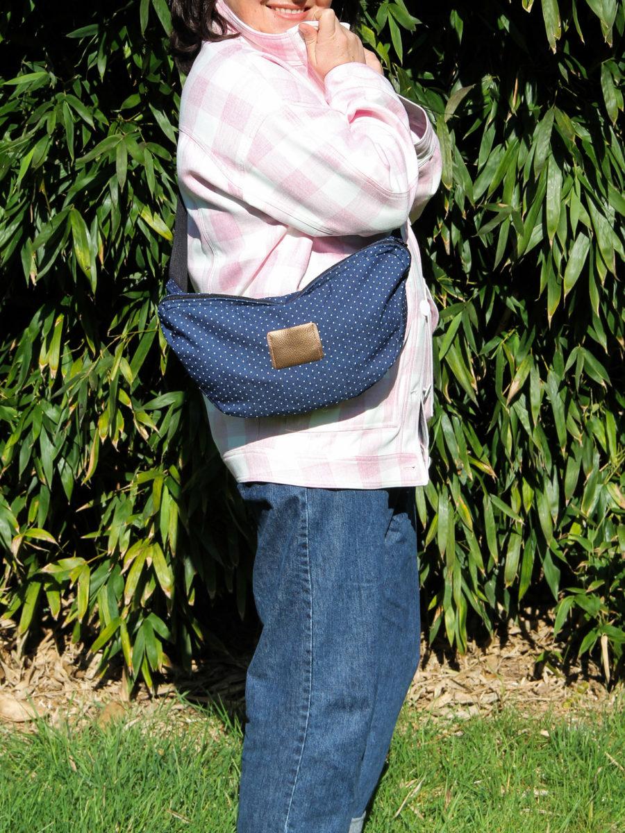 Couture - sac banane XL Chouette Kit en denim (via mercipourlechocolat.fr)