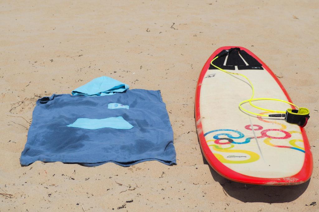 Couture - poncho de surf (hack poncho décathlon cousu main)
