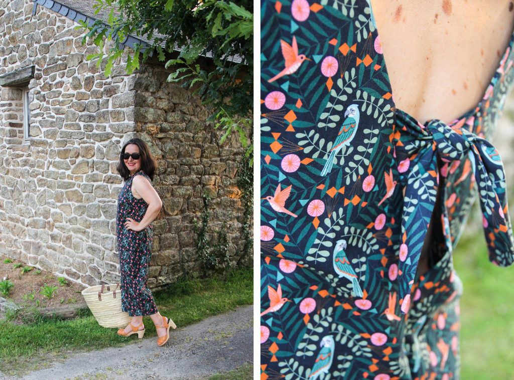 Couture - combinaison pantalon sans manches patron Danika FIBREMOOD - tissu Mondial Tissus