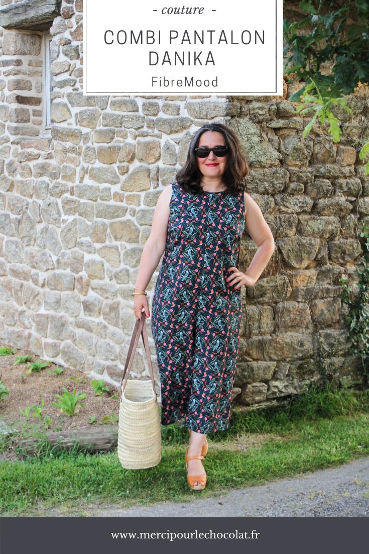 Couture - combinaison pantalon sans manches patron Danika FIBREMOOD - tissu Mondial Tissus (via mercipourlechocolat.fr)